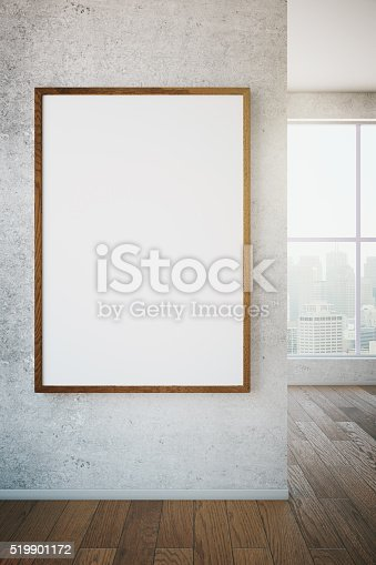 518847146istockphoto Picture frame on wall 519901172