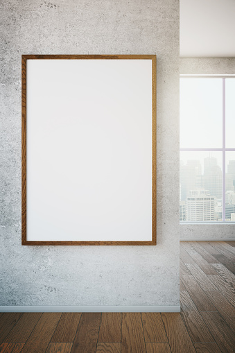 518847146 istock photo Picture frame on wall 519901172