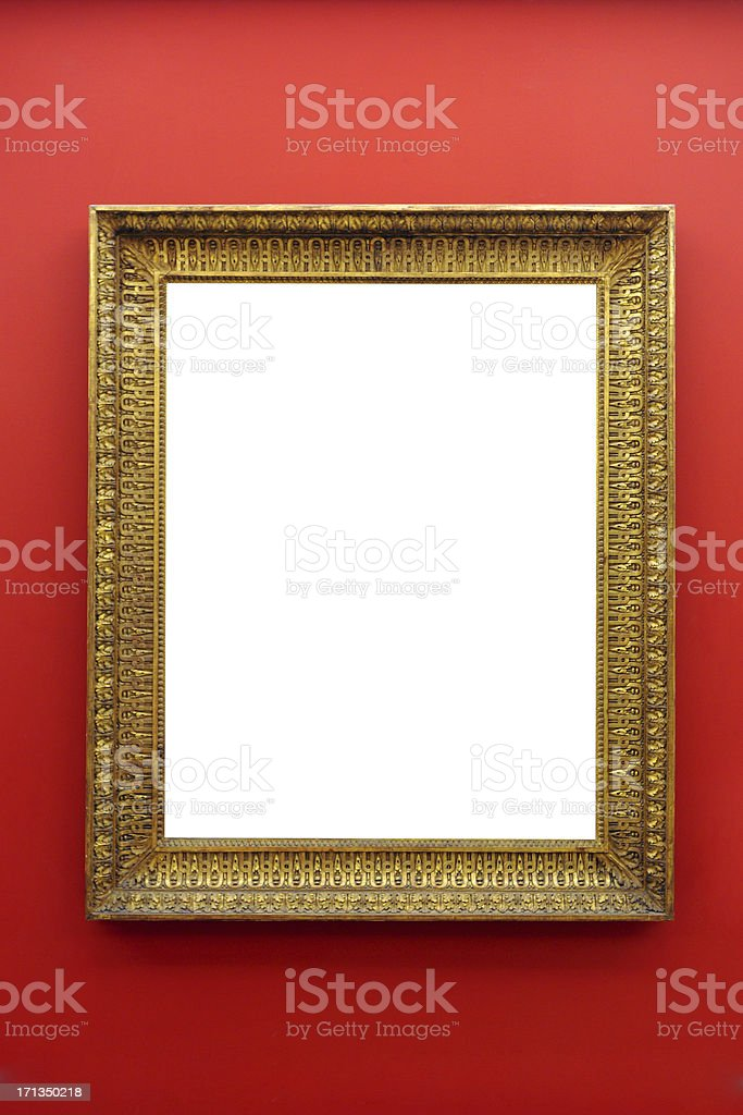 Picture Frame on Wall - XLarge stock photo