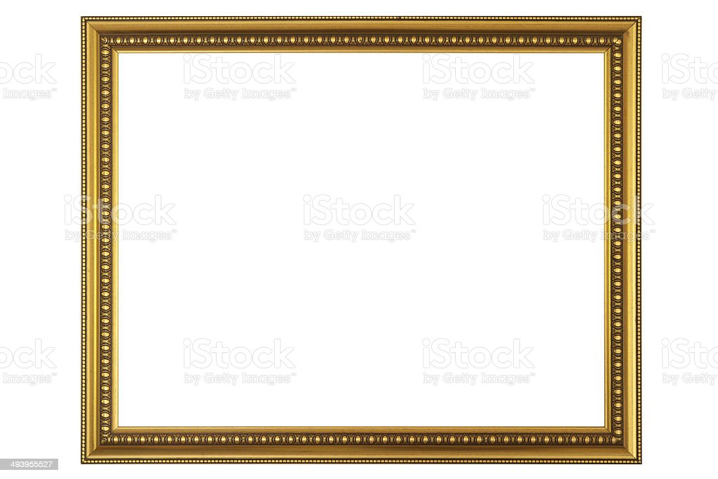 Picture frame on white background stock photo