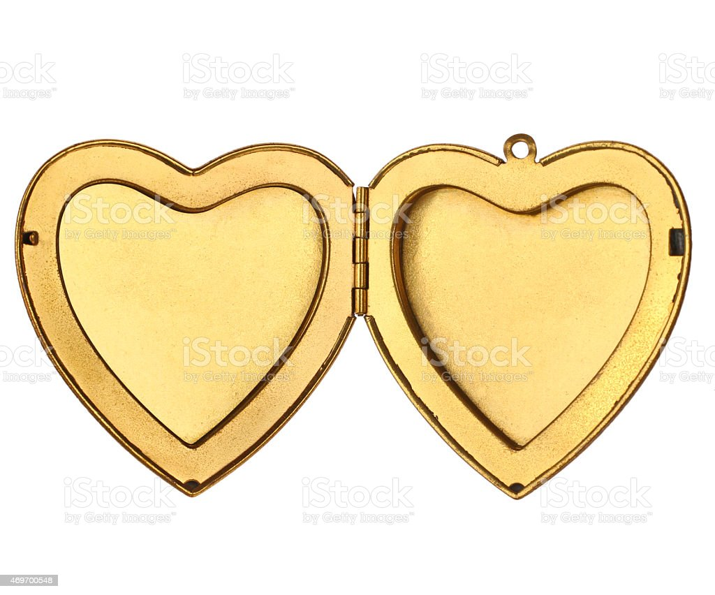 Picture Frame - Open Heart Locket stock photo