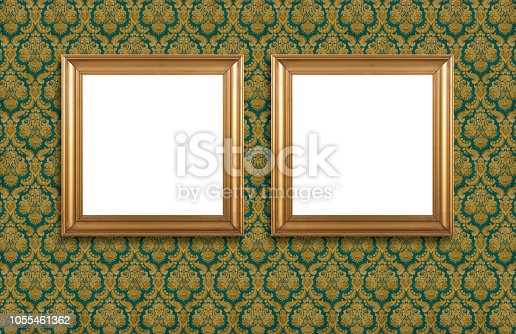 Picture Frame (Note to inspector: The wallpaper pattern in the background is not an illustration. It is a photo taken from a real wall with this old wallpaper design, which is not subject to copyright.)