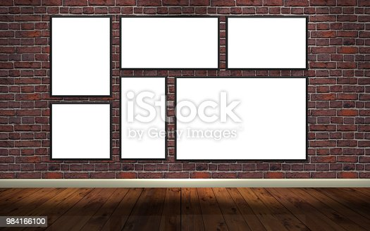 istock picture frame white canvas gallery 984166100