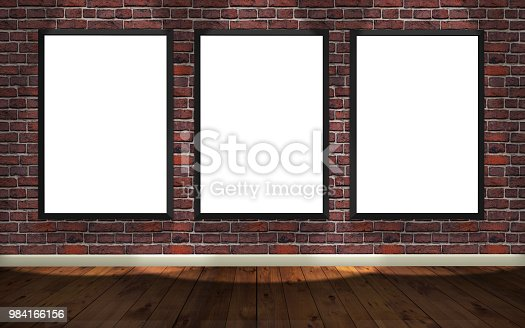 istock picture frame white canvas gallery 984166156