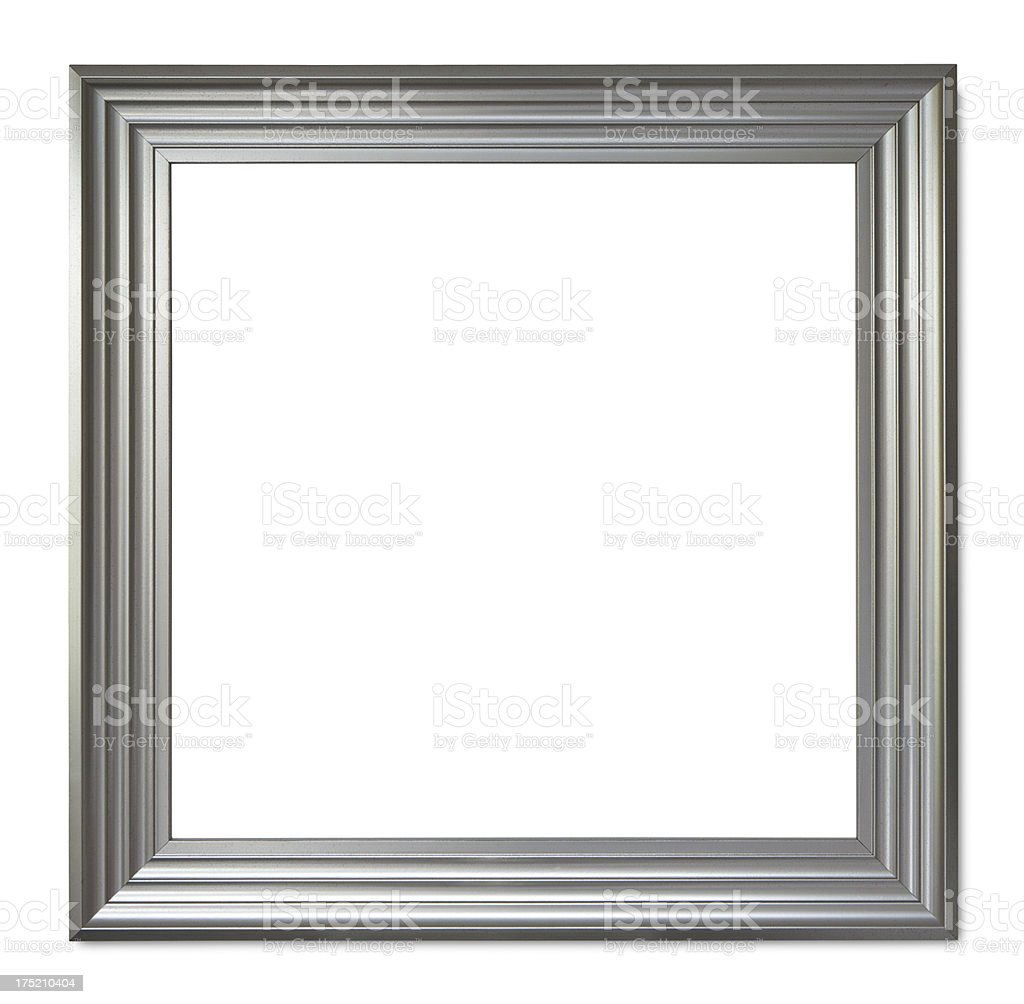 picture frame with antique silver finish stock photo