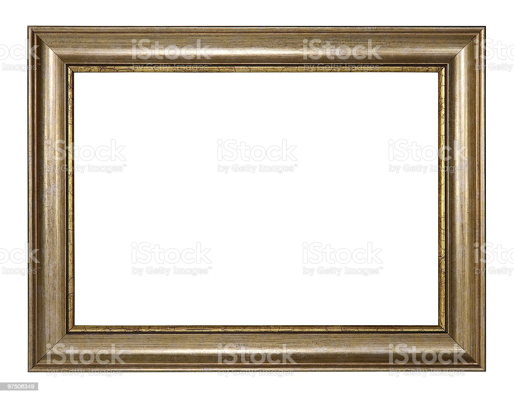 Picture frame with clipping path royalty-free stock photo