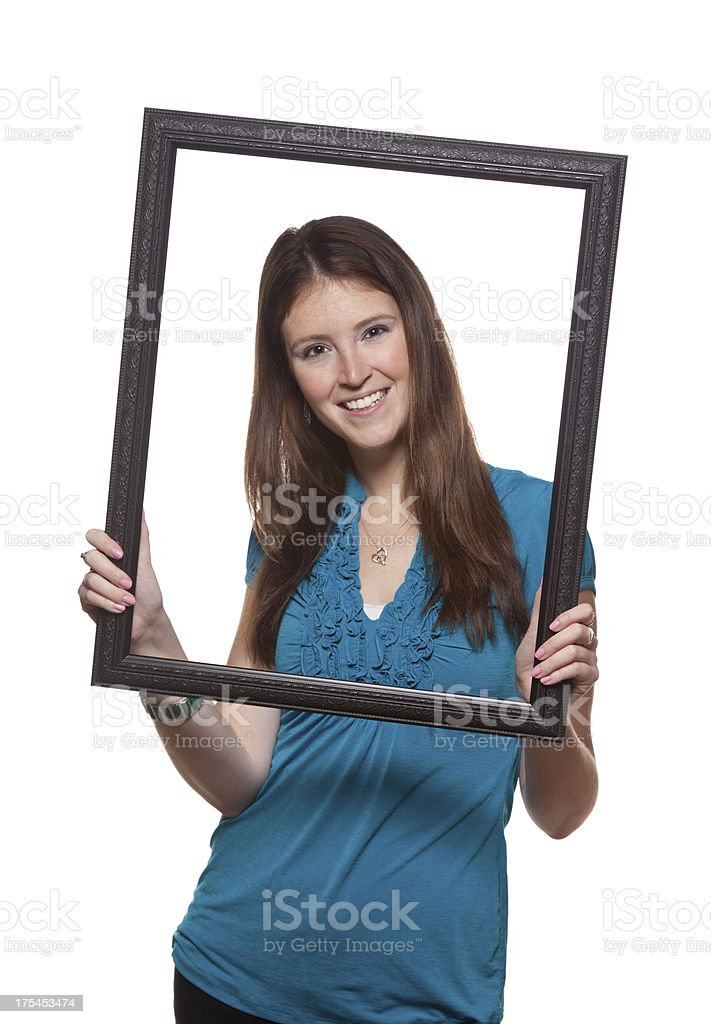 Picture Framed Person stock photo