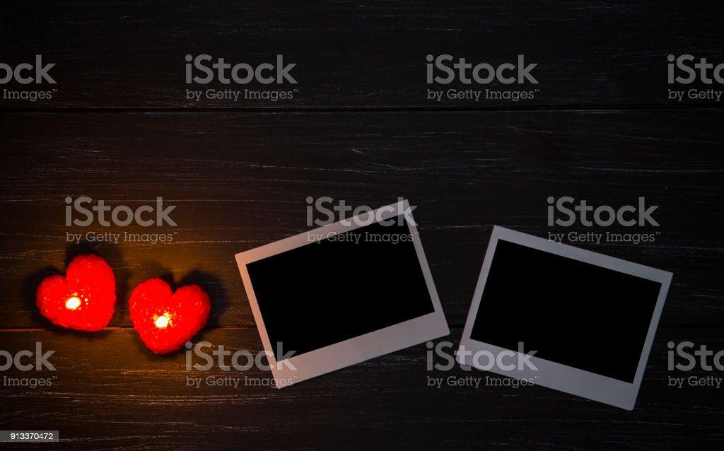 Cuadro Cuadros Y Velas De Forma De Corazón - Fotografía de stock y ...