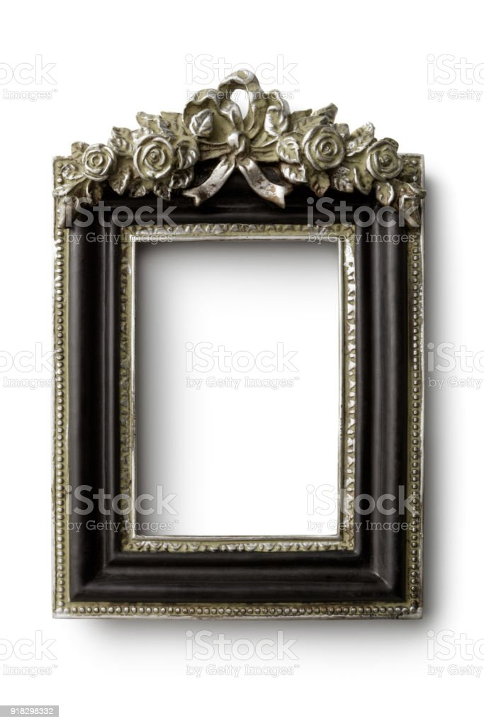 Picture Frames: Louis XVI Frame Isolated on White Background stock photo