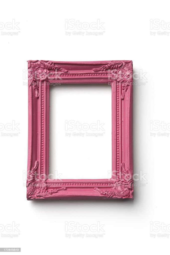 Picture Frames: Pink Frame stock photo