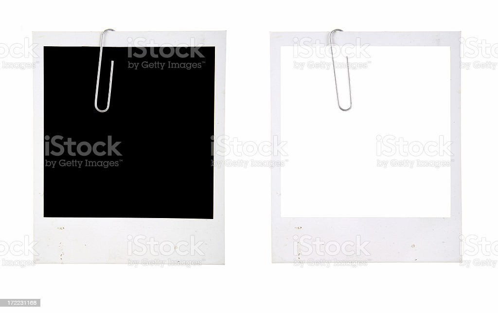 Picture Frames with Paper Clip stock photo