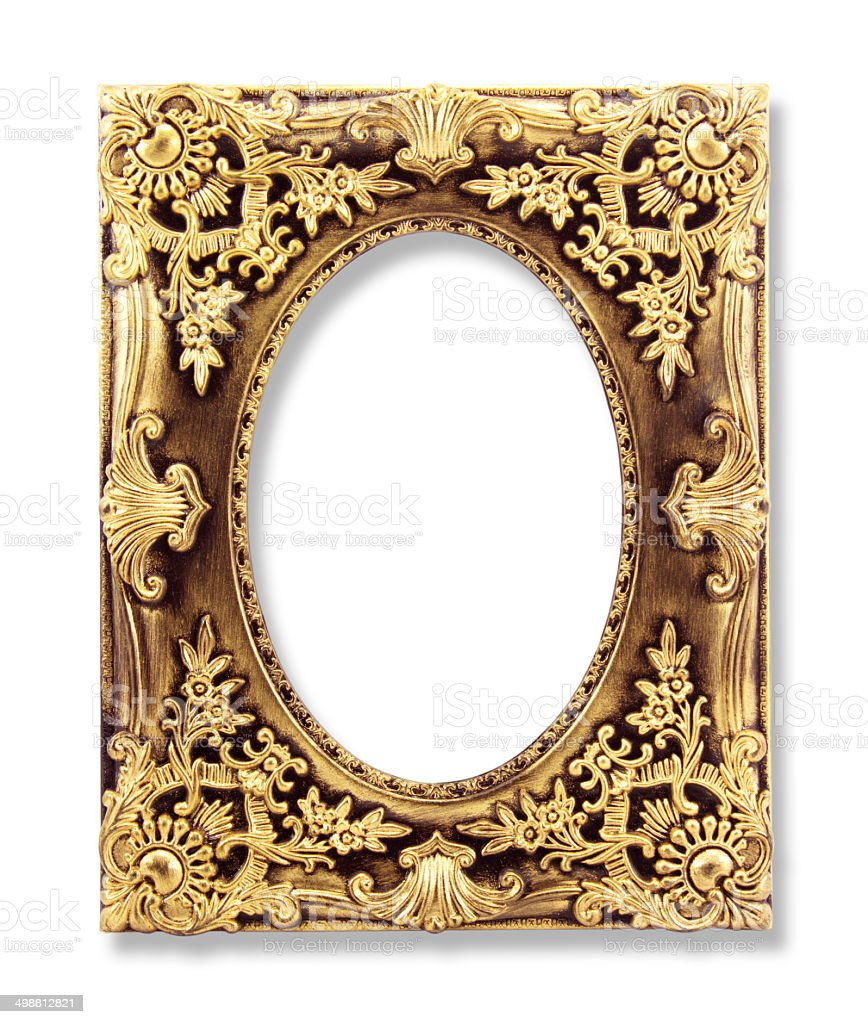 Picture Gold Frames Isolated On White Background Stock Photo & More ...