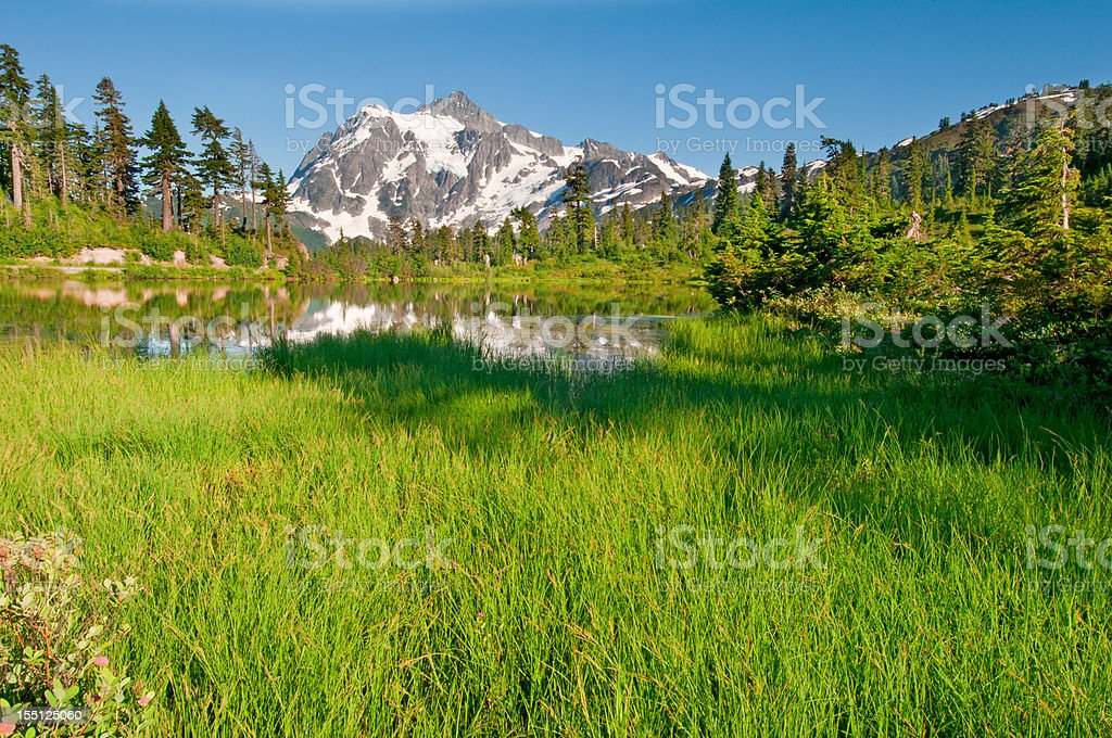 Picture Lake and Mt. Shuksan - I royalty-free stock photo
