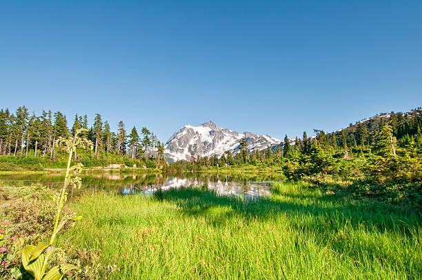 Lac Picture Lake et le Mont Shuksan-VIII - Photo