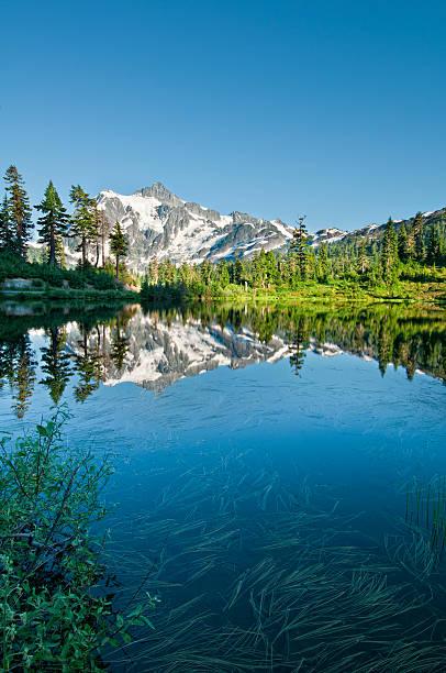 Lac Picture Lake et le Mont Shuksan-X - Photo