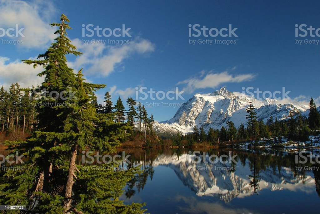 picture lake and mt.shuksan royalty-free stock photo