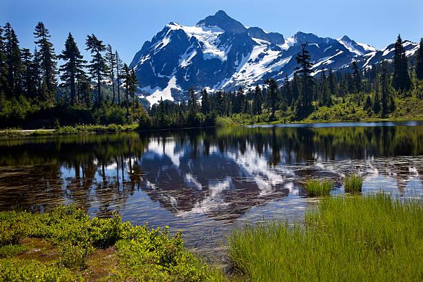 Lac Picture Lake du Mont Shuksan État de Washington - Photo