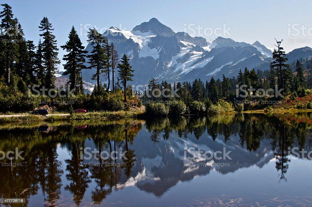 Picture Lake, Mt. Baker, Washington stock photo