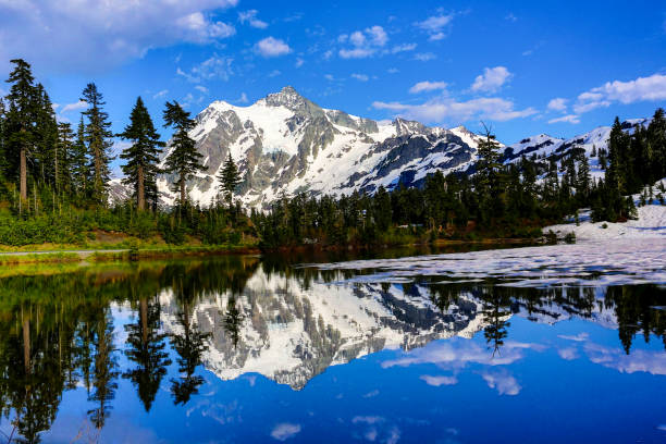 Photo lac, mont Baker-Snoqualmie National Forest - Photo
