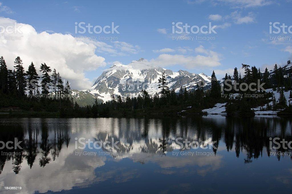 Picture Lake stock photo