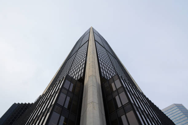 Picture of a 70's office skyscraper in Montreal, Quebec, Canada stock photo