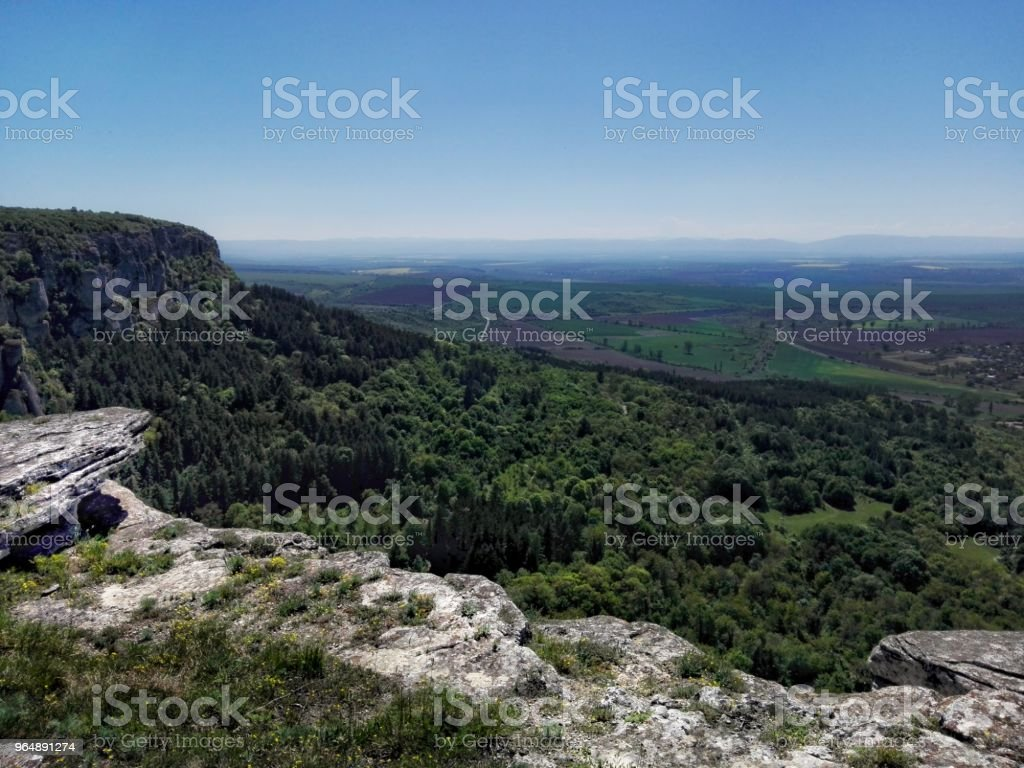 Picture of a beautiful place - panorama photo from Madara, Bulgaria royalty-free stock photo
