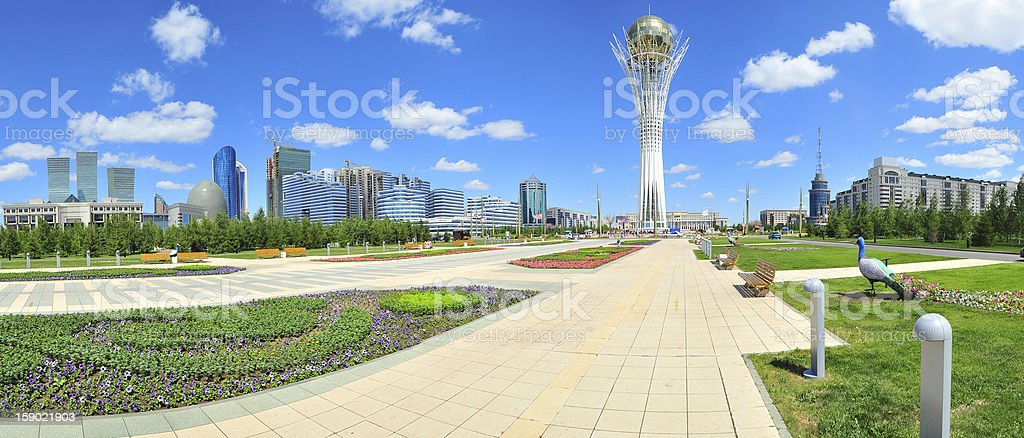 A picture of a besmirch day in Astana stock photo