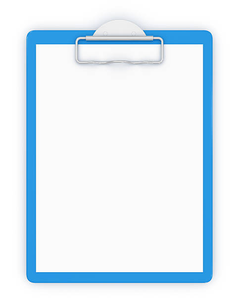 A picture of a blank clipboard stock photo