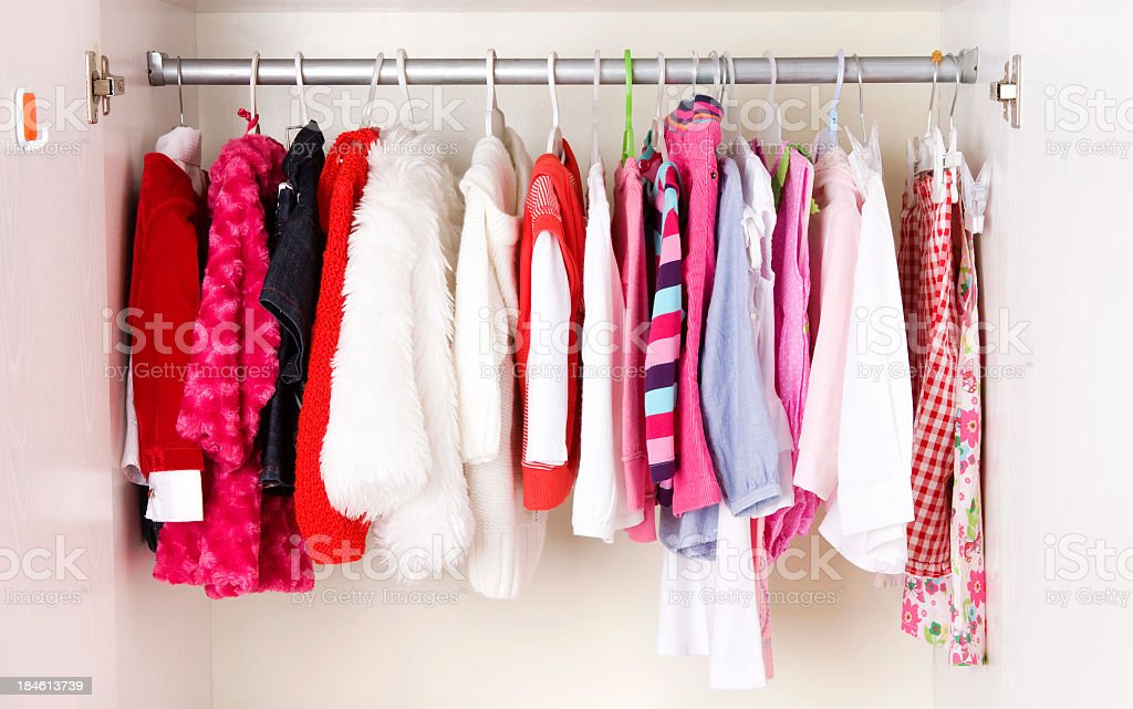 A picture of a close of children clothes stock photo