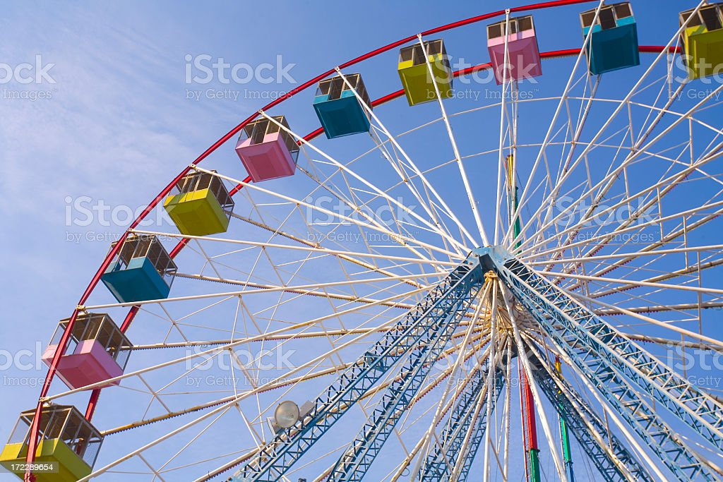 Picture of a colorful Ferris wheel in clear sky royalty-free stock photo