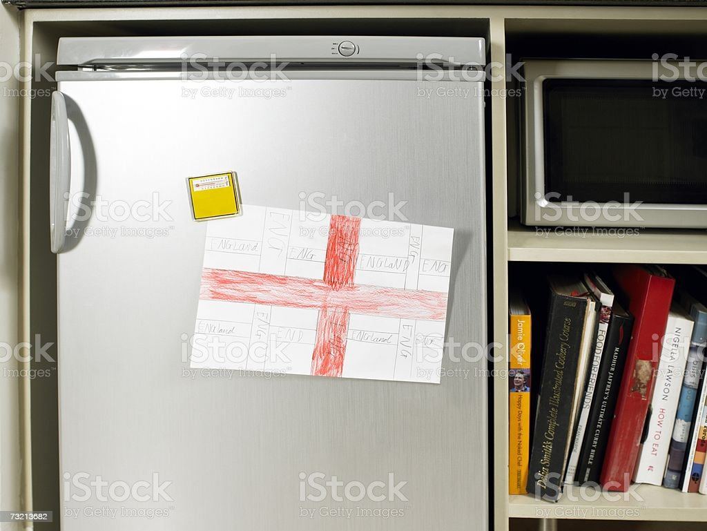 George imagem de uma cruz no frigorífico foto de stock royalty-free