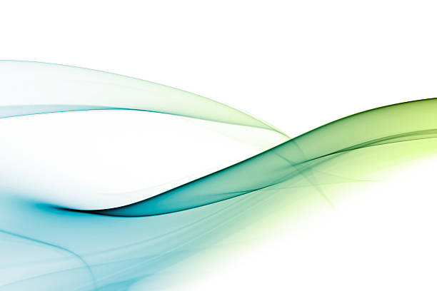 A picture of a green and blue abstract background stock photo