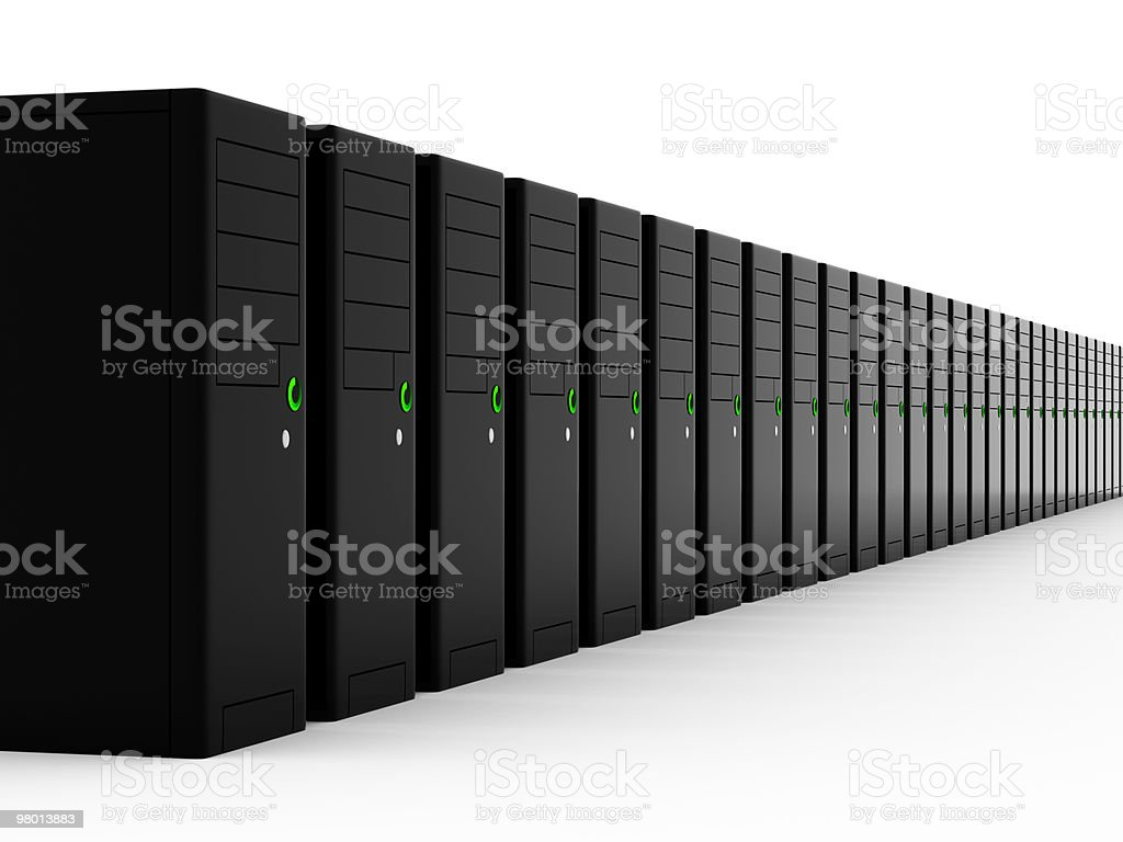 A picture of a group of black servers royalty free stockfoto