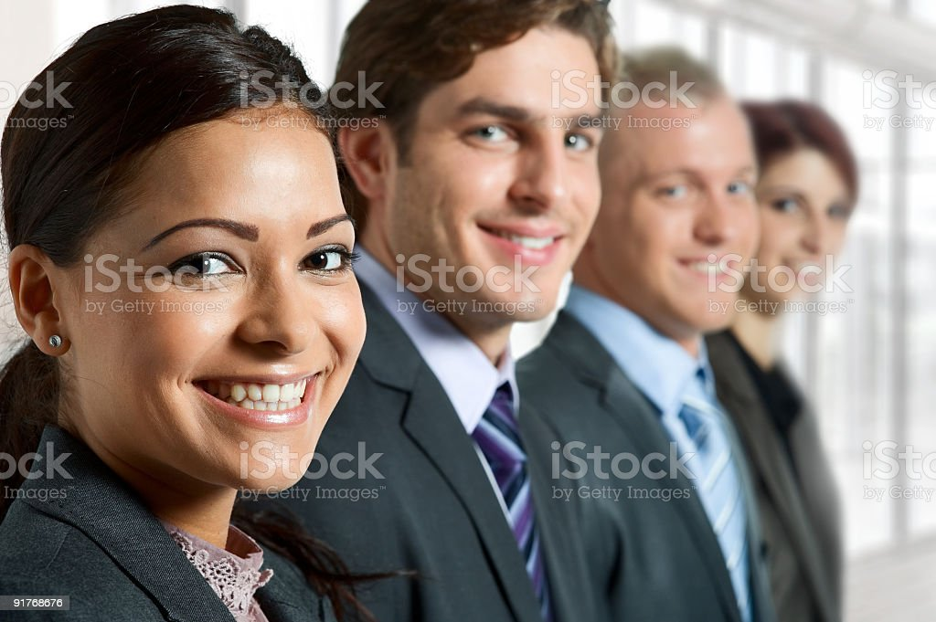 A picture of a group of young business people stock photo