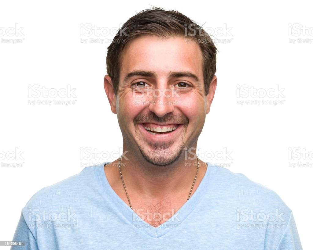 A picture of a handsome, smiling man stock photo