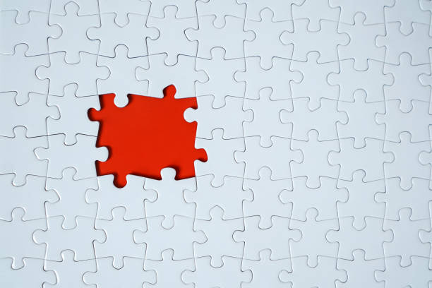 Picture of a Jigsaw puzzle frame stock photo stock photo