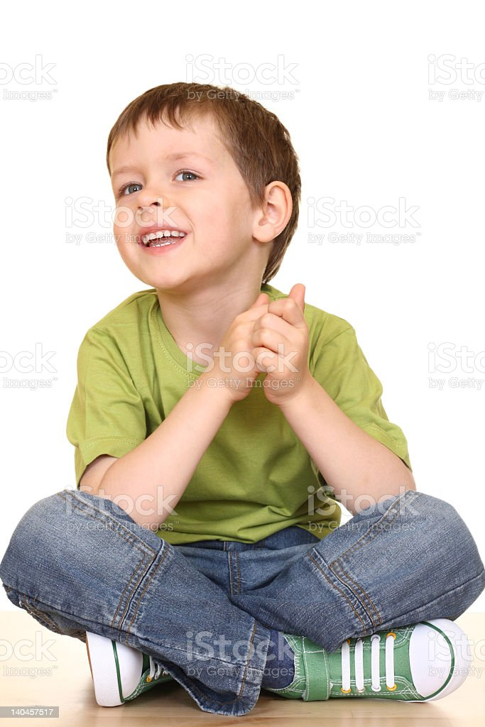 A picture of a little kid smiling royalty-free stock photo