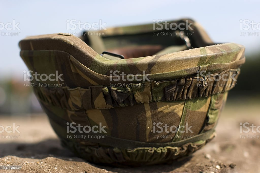 A picture of a military helmet stock photo