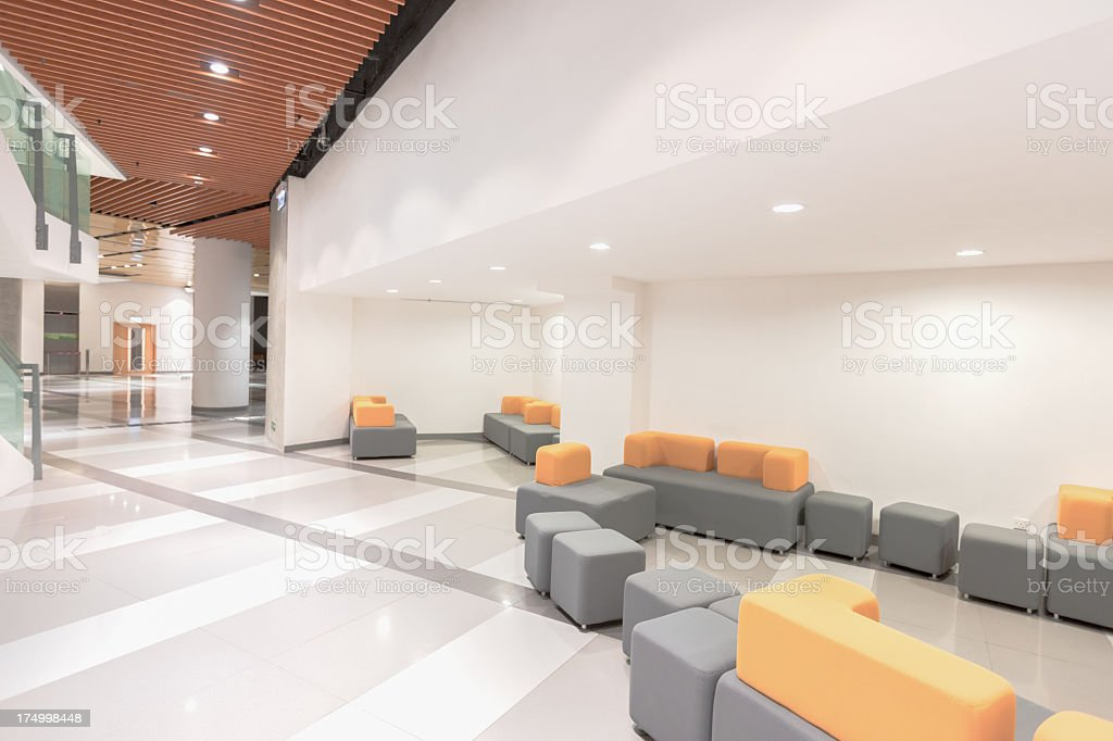 Picture of a modern office waiting room stock photo