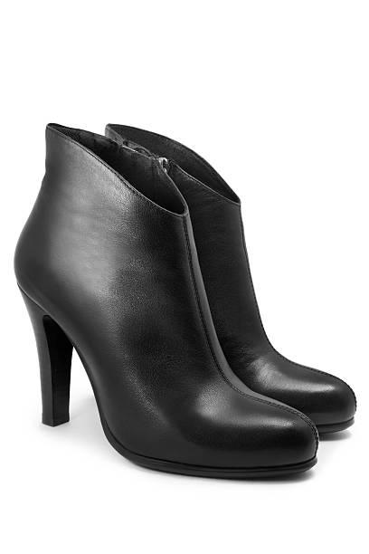 stiefel - schwarze hohe schuhe stock-fotos und bilder