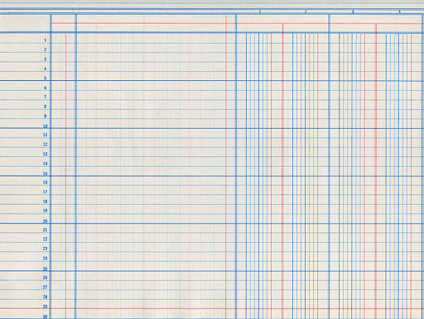 A picture of a piece of ledger paper vintage sheet of paper from an old ledger book accounting ledger stock pictures, royalty-free photos & images