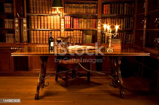 istock Picture of a reading room or a person's study 144962608