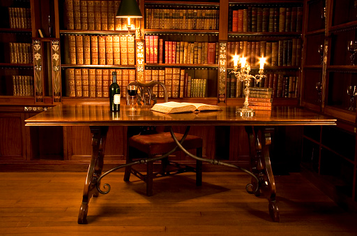 Picture of a reading room or a person's study