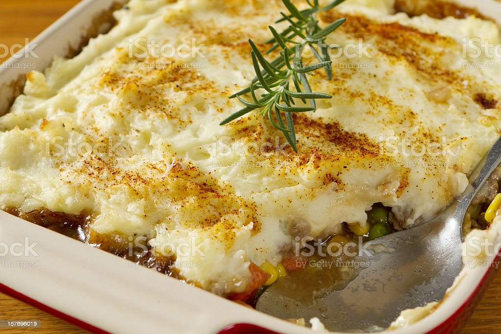 A picture of a scrumptious Shepherds Pie stock photo