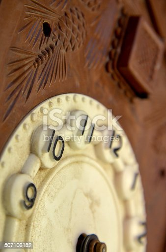 Picture of a Vintage wall clock Time concept