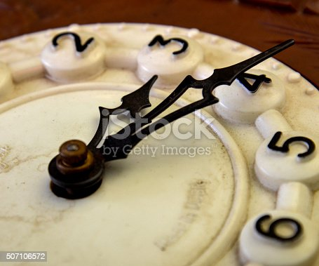 Picture of a Vintage wall clock . Time concept