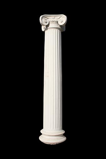 White column on black. See also more PHOTOS ISOLATED ON WHITE