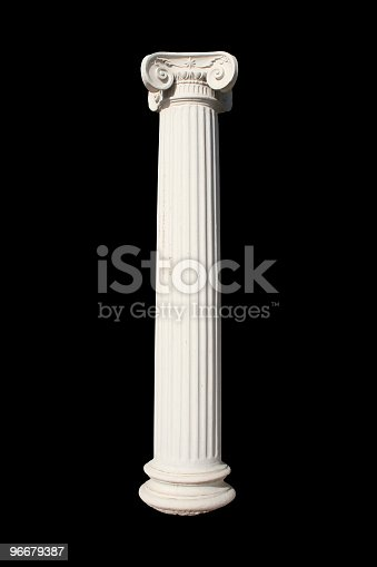 White column on black. See also more PHOTOS ISOLATED ON WHITE