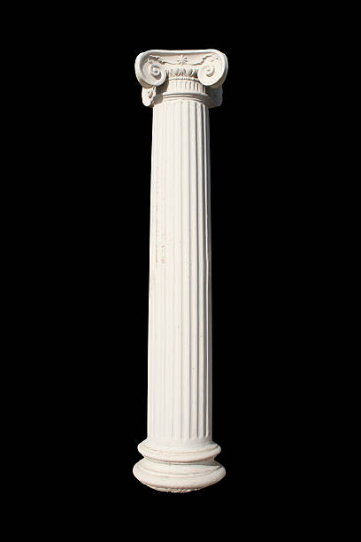 a picture of a white column against a black background - roman stock photos and pictures