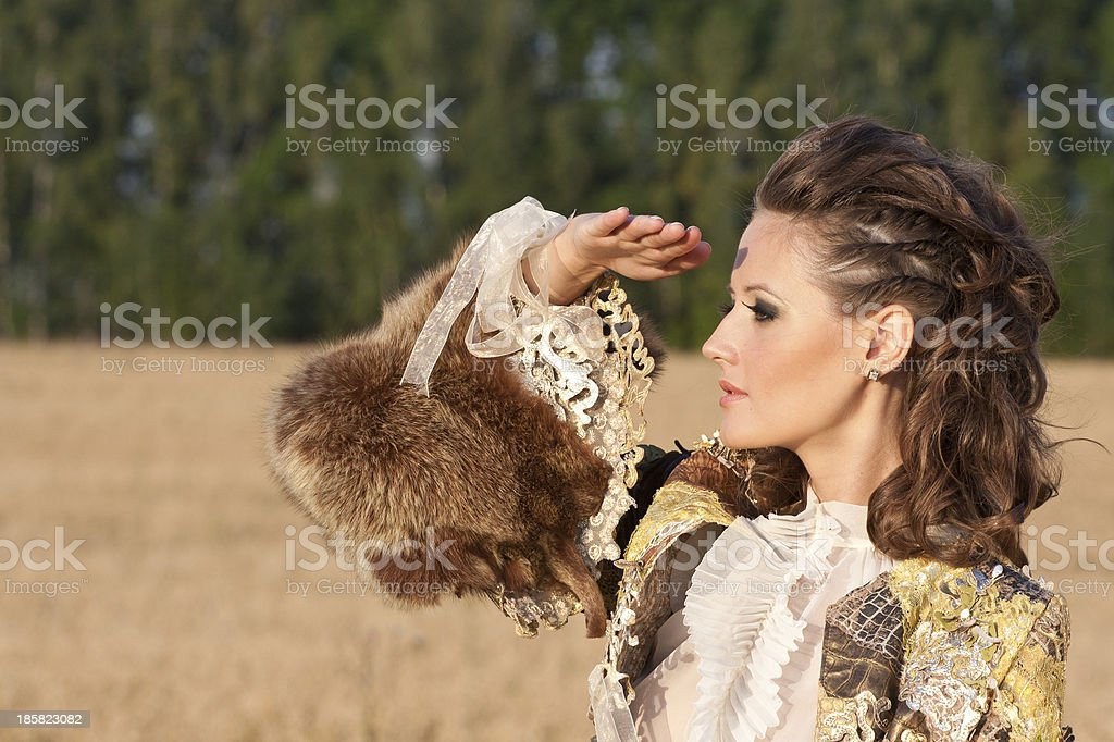 Picture of a young  woman looking forward royalty-free stock photo